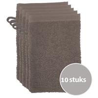 The One Towelling The One Voordeelpakket Washandjes Taupe - 10 stuks