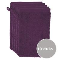 The One Towelling The One Voordeelpakket Washandjes Plum - 10 stuks