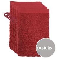 The One Towelling The One Voordeelpakket Washandjes Burgundy - 10 stuks