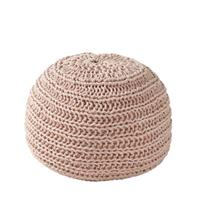 OVERSEAS Poef Natural Knitted Blush 30 x 50 cm