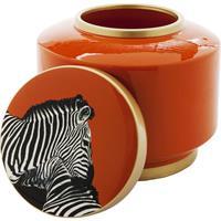 Kare Design Decoratiepot Zebra Oranje