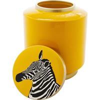 Kare Design Decoratiepot Zebra Geel