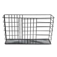 Leen Bakker Opbergmand Riga - zwart - 34x18x24,5 cm