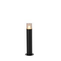 qazqa Moderne staande buitenlamp 50 cm zwart - Odense