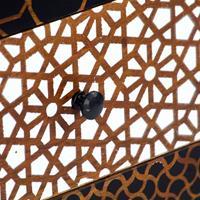 Dressoir met geprint patroon 90x30x70 cm massief mangohout