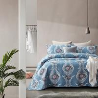 Bedsprei Retro Flower Blue Blauw 180 x 250
