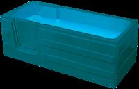Badstuber Haiti instap ligbad 170x76cm met deur