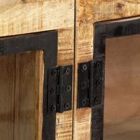 Dressoir 160x30x80 cm massief ruw mangohout bruin en zwart