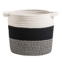 Leen Bakker Mand Leuven - zwart/wit/grijs - 22xØ22 cm