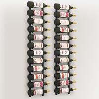 vidaXL Wijnrekken wandmontage voor 12 flessen 2 st ijzer zwart