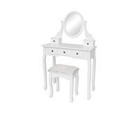 Reke Kaptafel Mara wit inclusief zitbankje en spiegel