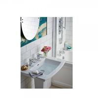 heritagebathrooms 2 Gats Wastafelkraan  Lymington 92x10x45mm Chroom/Goud