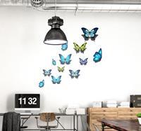 tenstickers Muurstickers dieren Kleurrijke vlinders