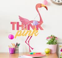 tenstickers Roze flamingo muursticker