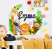 tenstickers Naamsticker jungle dieren
