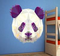 tenstickers Sticker panda geometrisch