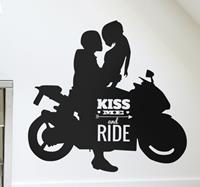 tenstickers Sticker kiss me and ride