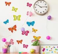 tenstickers Muurstickers kinderkamer lente vlindertjes