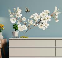 tenstickers Muurstickers slaapkamer witte lentebloem