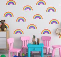 tenstickers Muurstickers kinderkamer regenboogjes