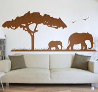 tenstickers Sticker Afrika safari olifanten