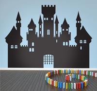 tenstickers Sticker silhouette middeleeuws kasteel