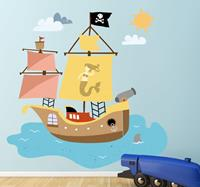 tenstickers Sticker kind piratenschip