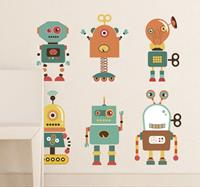 tenstickers Sticker kind robots vrolijk