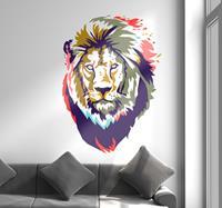 tenstickers Kleurrijke Afrikaanse Leeuw Muursticker