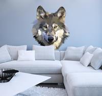 tenstickers Muurstickers slaapkamer Vintage wolf