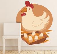 tenstickers Sticker kip vrolijk