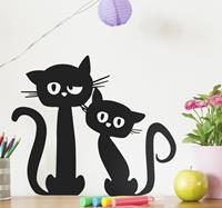tenstickers Muurdecoratie grappige katten