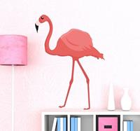 tenstickers Roze flamingo sticker