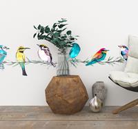 tenstickers Stickerrand exotische vogels
