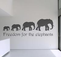 tenstickers Sticker freedom elephants