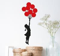 tenstickers Muursticker Banksy Meisje Balonnen