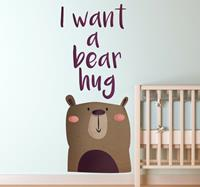 tenstickers I Want a Bear Hug Kinderen Muursticker