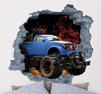 tenstickers Muursticker met auto in 3D