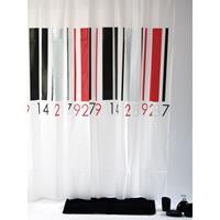 Douchegordijn Bars Streepjescode 180x200 cm