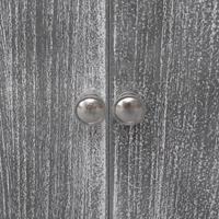 Badkamerkast 46x24x116 cm paulowniahout wit en grijs