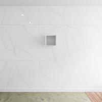 zaro Lagom volledig naadloos solid surface nis 30cm mat wit geschikt voor in of opbouw