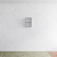 zaro Lagom volledig naadloos solid surface nis 45cm mat zwart geschikt voor in of opbouw.