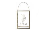 Cosy@Home Lantaarn Light up my day (L15xB15xH20 cm)