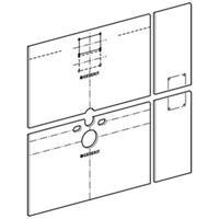 Geberit Gis Easy beplatingsset inbouwelement gips versterkt met vezels (bxh) 1300x1200mm toepassing wandcloset