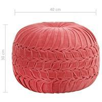 VidaXL Poef smock ontwerp 40x30 cm katoenfluweel roze