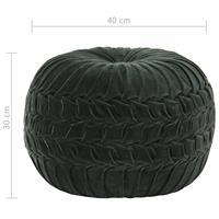 VidaXL Poef smock ontwerp 40x30 cm katoenfluweel groen
