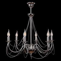 Lis Poland Kroonluchter Retro in zilver, 6-lamps, 75 cm