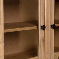 vidaXL Hoge kast Panama Range 93x40,5x180 cm massief grenenhout