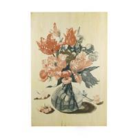 Art For the Home Print op Hout - Stilleven Bloemen - 40x60 cm