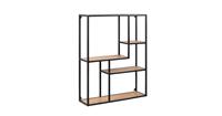 Lisomme Industriële Wandkast - Vic - Hout - 3 planken - Smal